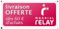Livraison offerte en Point Relais dès 45 Eur d'achats